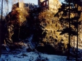 Pohled na nádvoří s věží